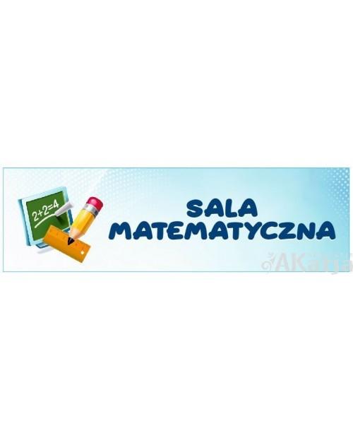 Naklejka na Drzwi Sala Matematyczna