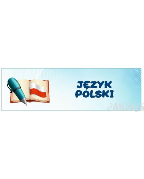 Naklejka na Drzwi  Język Polski