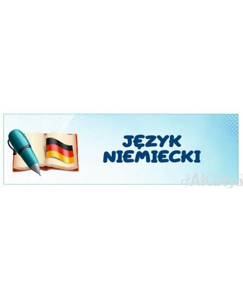 Naklejka na Drzwi  Język Niemiecki
