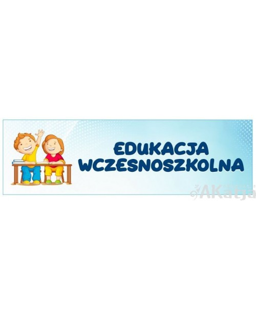 Naklejka na Drzwi Edukacja Wczesnoszkolna