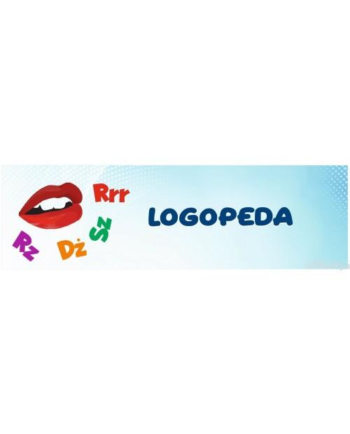 Naklejka na Drzwi Logopeda