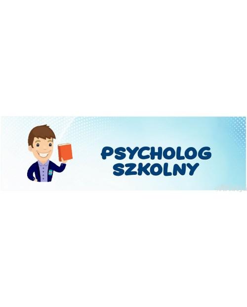 Naklejka na Drzwi Psycholog Szkolny