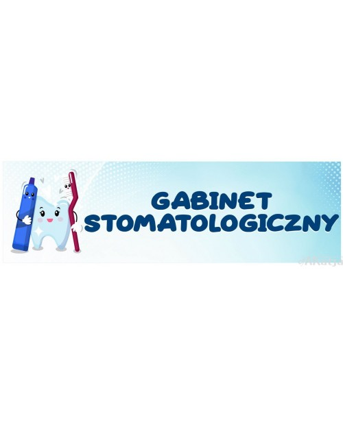 Naklejka na Drzwi Gabinet Stomatologiczny