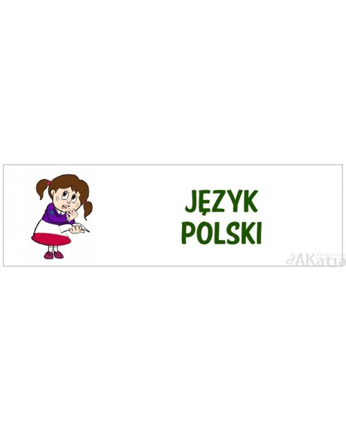 Tabliczka Szkolna na Drzwi Język Polski