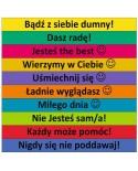Motywacyjne hasła nr 1  - 10 kolorowych naklejek