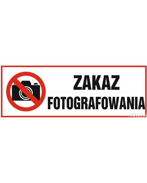 Tabliczka Zakaz Fotografowania
