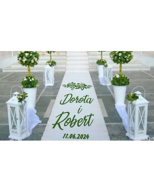 Naklejka ślubna z kwiatami hibiskusa