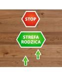 Naklejki Podłogowe STOP STREFA RODZICA