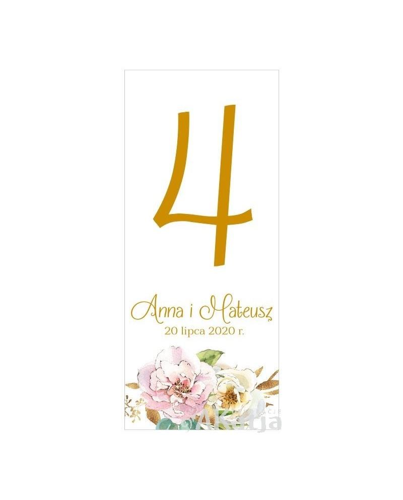 Numer Stołu -  Białe Kwiaty