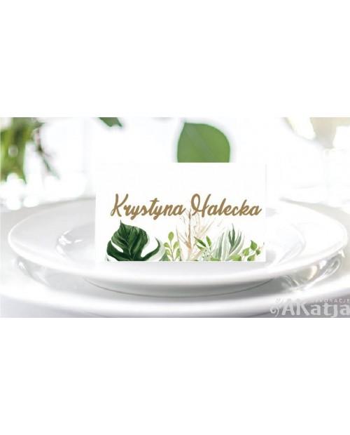 Winietki Ślubne - Zielone Liście