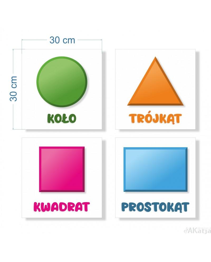 Naklejki podstawowymi figurami geometrycznymi