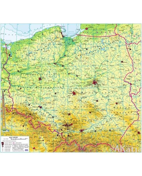 Polska - Mapa Fizyczna