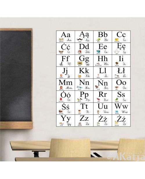 Alfabet ścienny z polskimi znakami
