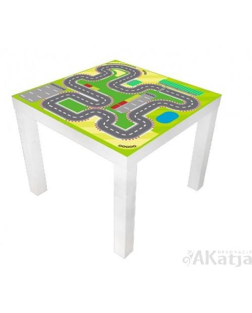 Naklejka na stolik tor wyścigowy