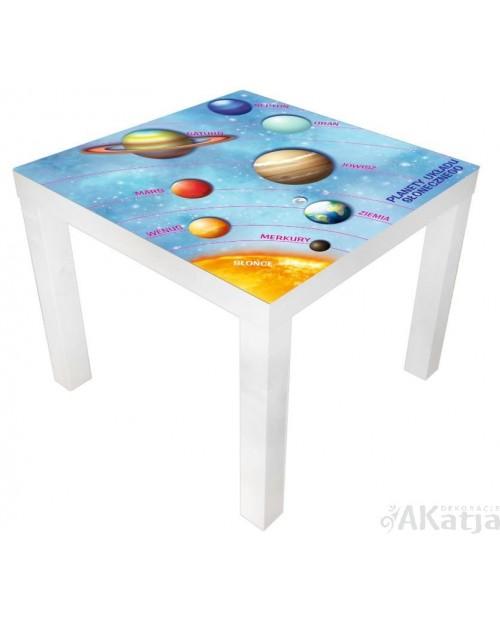 Naklejka na stolik planety układu słonecznego