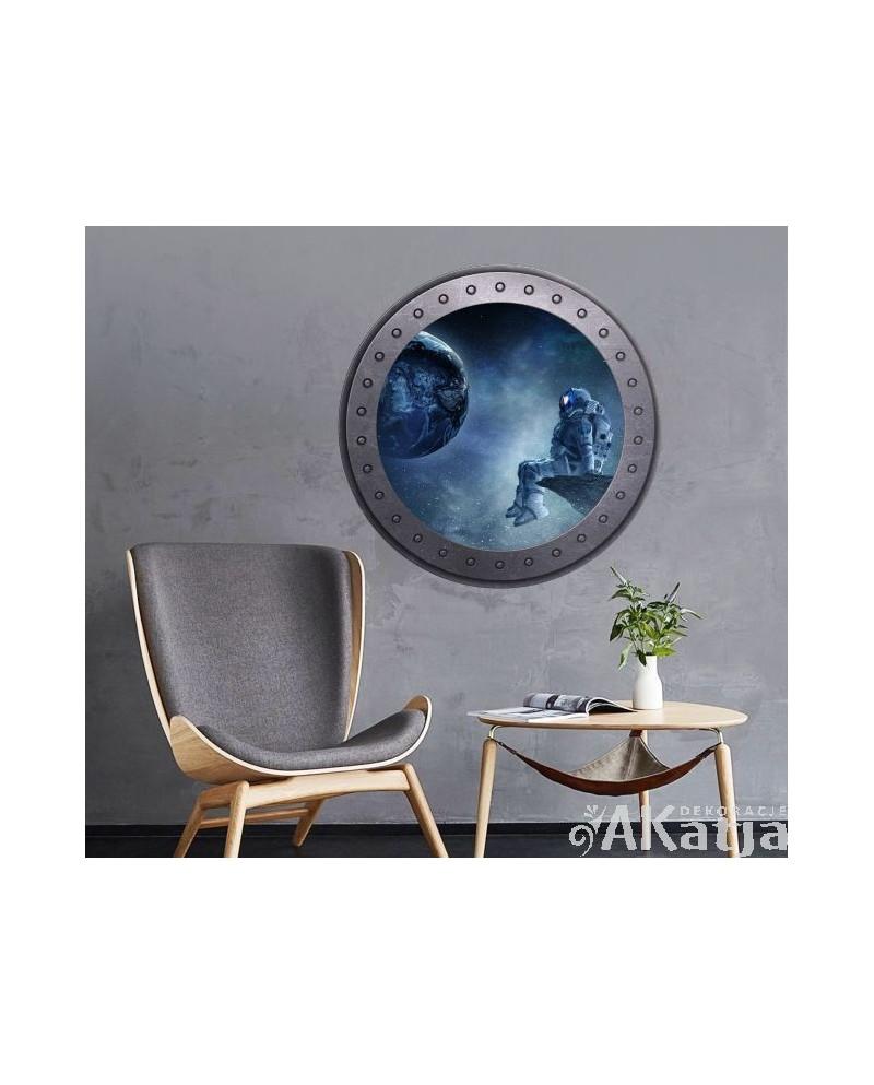 Naklejka okno z kosmonautą