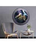 Naklejka okrągłe okno z kosmosem