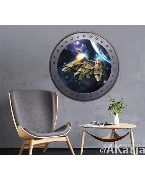 Naklejka okno z kosmosem