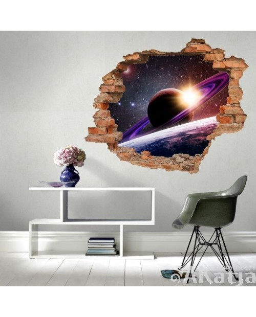 Naklejka dziura z Saturnem