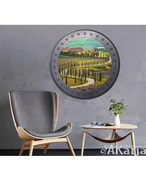 Naklejka okno z Toskanią