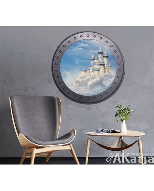 Naklejka okno z zamkiem