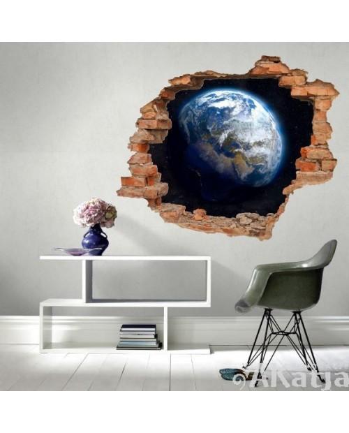 Naklejka dziura z Ziemią