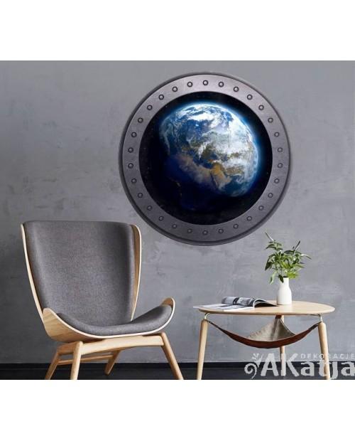 Naklejka okno z Ziemią