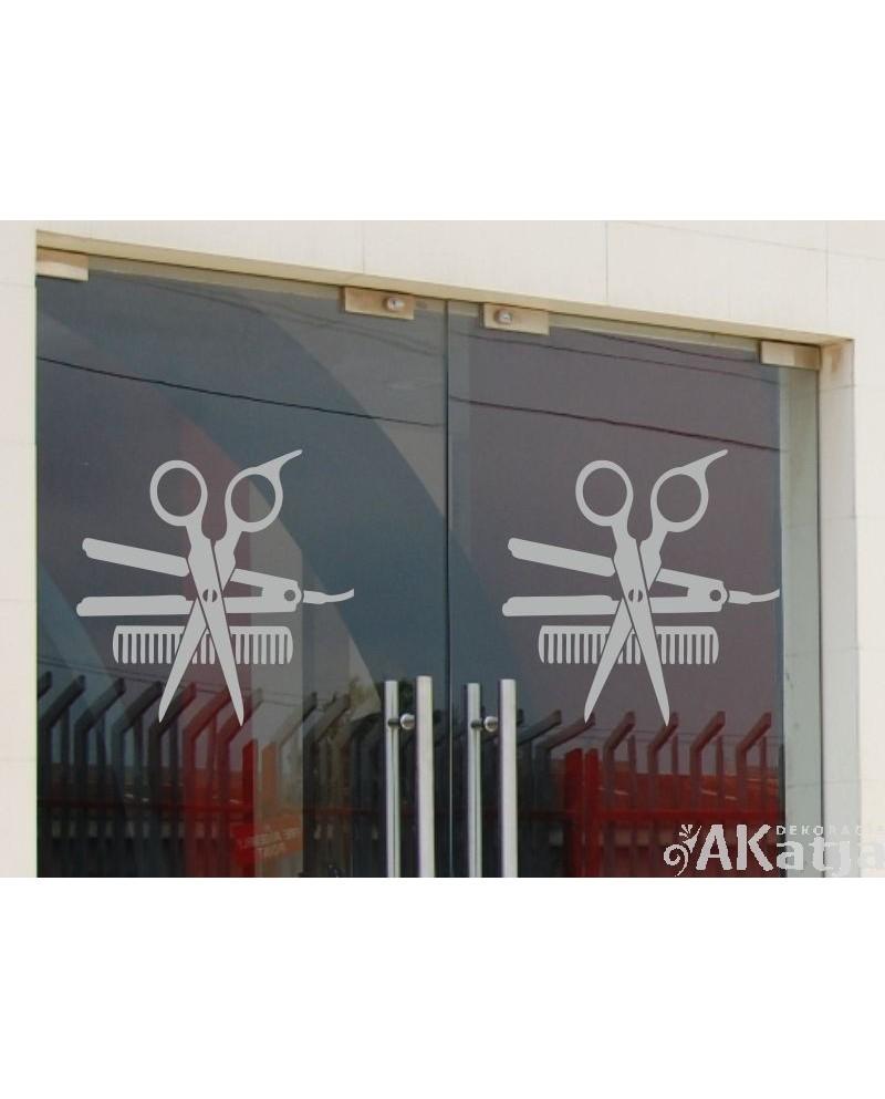 Naklejka mrożone szkło: nożyczki