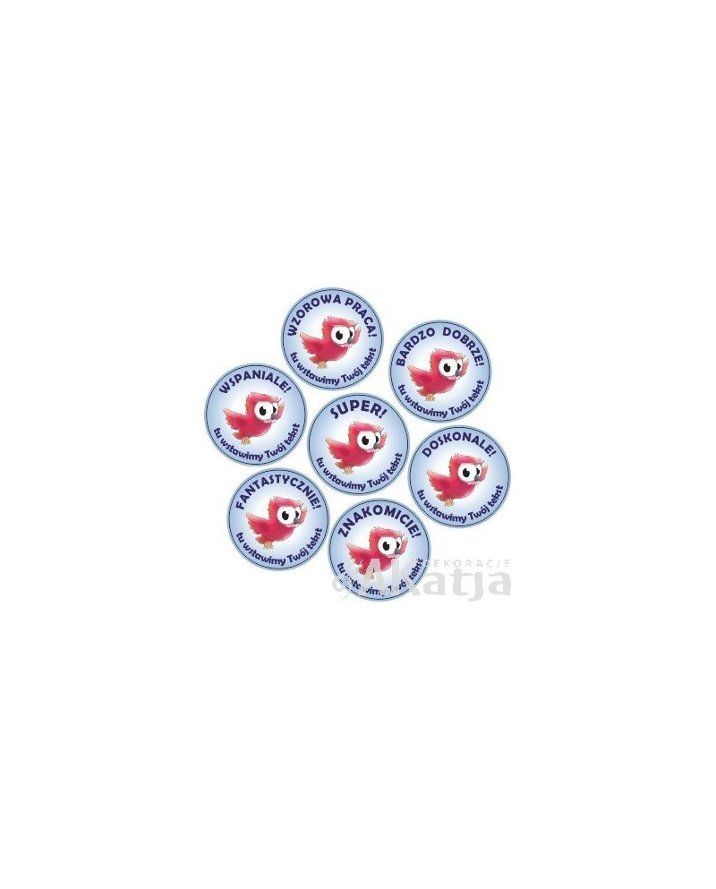 Naklejki motywacyjne z różową Sową