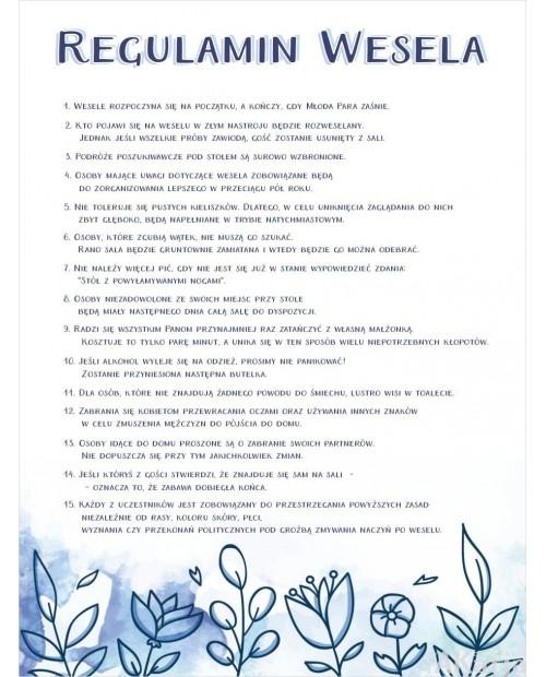 Regulamin Wesela - Niebieskie Kwiaty