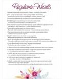 Regulamin Wesela - Pastelowe Kwiaty