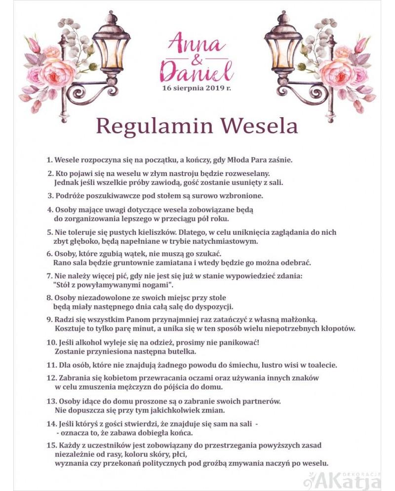 Regulamin Wesela - Latarnie