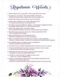 Regulamin Wesela - Fioletowe Maki
