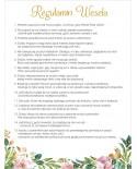 Regulamin Wesela - Białe Kwiaty