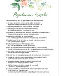 Regulamin Wesela - Koralowa Róża