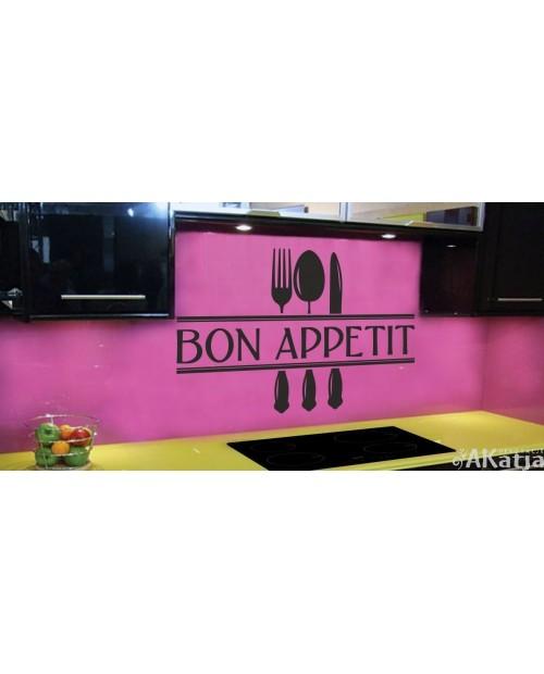 Napis bon appetite do kuchni