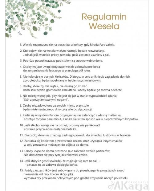 Regulamin Wesela - Oliwkowe Listki