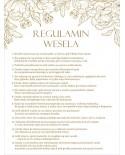 Regulamin Wesela - Złoty Glamour