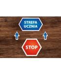 Naklejki Podłogowe STOP STREFA UCZNIA