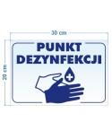 Punkt dezynfekcji - naklejka