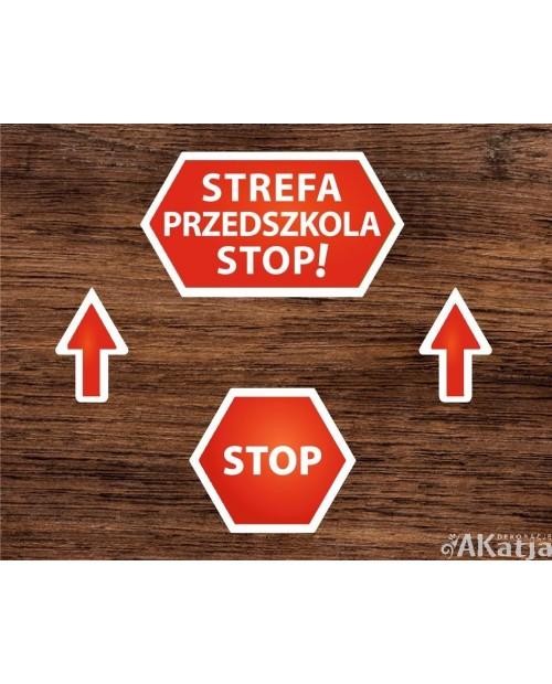 Naklejki Podłogowe STOP STREFA PRZEDSZKOLA