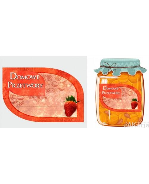 Etykiety na Przetwory Domowe z truskawką