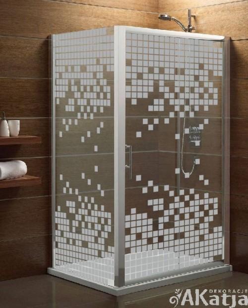 Naklejka mrożone szkło: Małe kwadraty