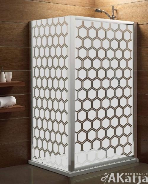 Maskująca naklejka mrożone szkło: Heksagon