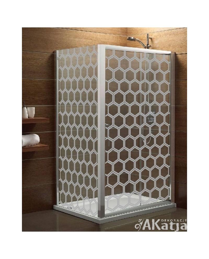 Naklejka mrożone szkło: Heksagon