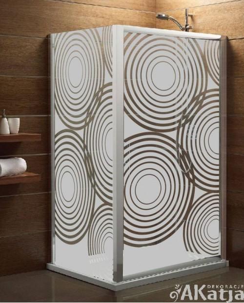 Maskująca naklejka mrożone szkło: Koła