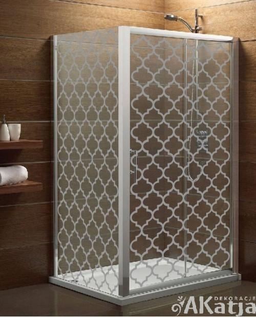 Naklejka mrożone szkło: Marokańska Koniczyna