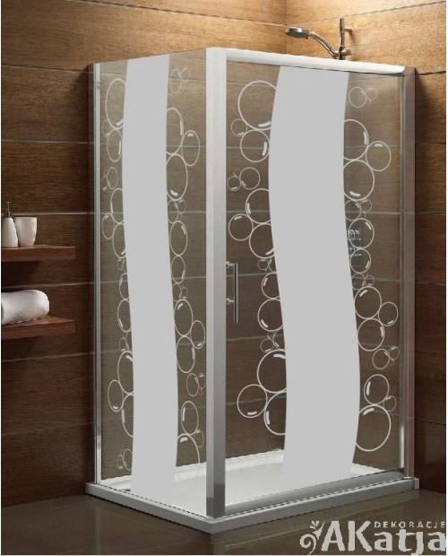 Naklejka mrożone szkło: Bąbelki