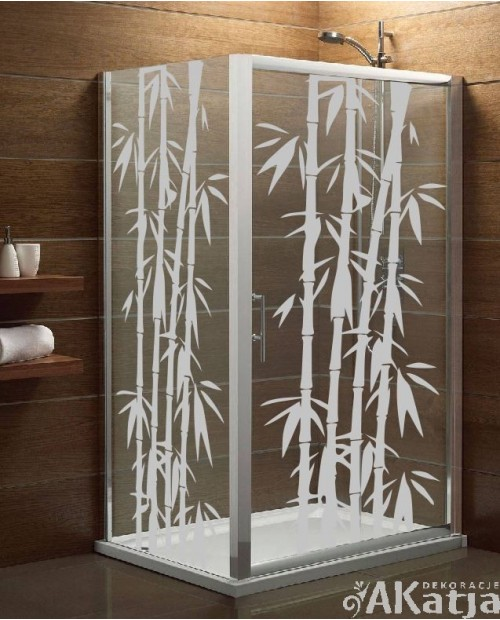 Naklejka mrożone szkło: Bambusy