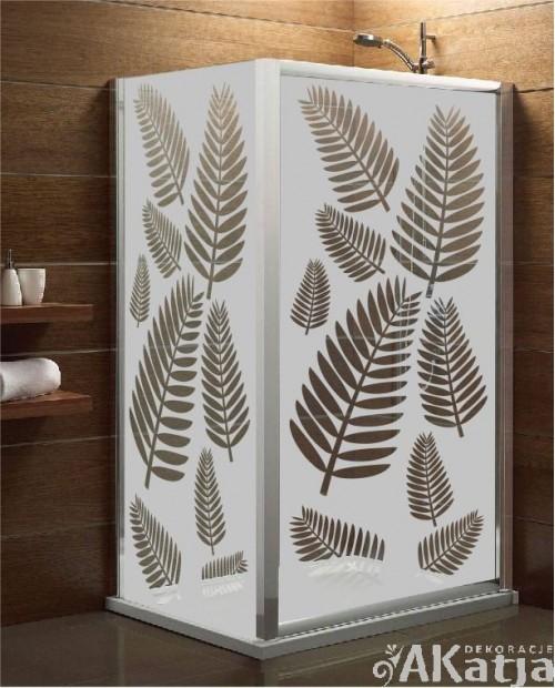 Maskująca naklejka mrożone szkło: Palmowe liście